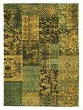 Vintage retro vloerkleed New York 445 Groen_