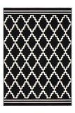 Vintage vloerkleed Ariadne zwart wit_