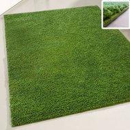 groen hoogpolig vloerkleed