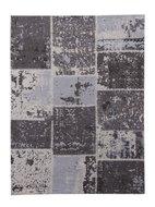 grijs patchwork vloerkleed