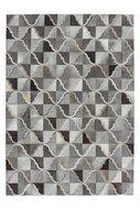 grijs leren vloerkleed