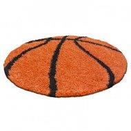 Voetbal-vloerkleed-Funny-6001-kleur-Oranje